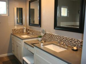 Traditional Concrete Bathroom Countertop
